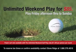 85 dollars unlimited play at stone ridge